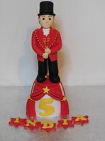 Circus Ringmaster Handmade Birthday Cake Toppers with Name & Age